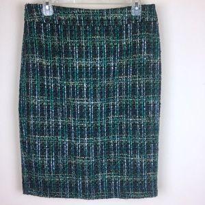 Ann Taylor wool blend knit skirt.